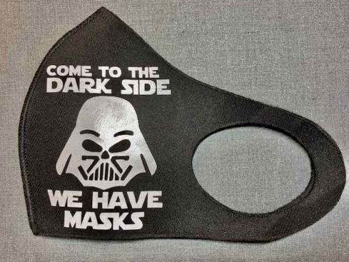 Come to the dark side mondkapje